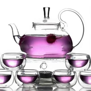 Teaology Fiore Borosilicate Blooming Teapot and Glass Set 17554861