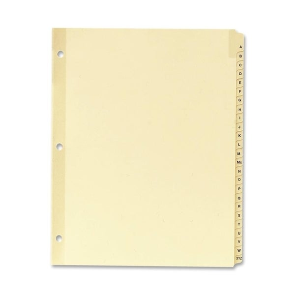 Sparco A-Z Clear Plastic Index Dividers