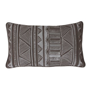 Thro by Marlo Lorenz Tracey Embroidered Tribal Sketch Pillow