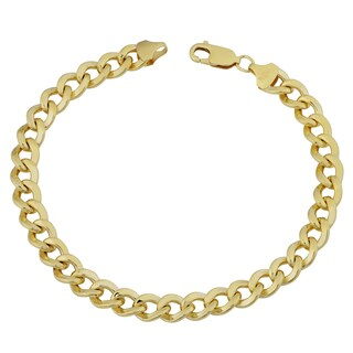 Fremada 14k Yellow Gold Filled Men's 9-mm High Polish Curb Link Bracelet (9 inches)