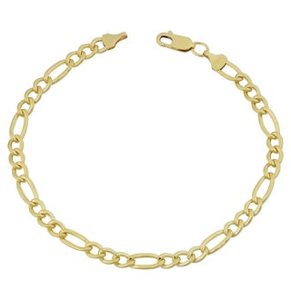Fremada 14k Yellow Gold Filled Men's 5-mm High Polish Figaro Link Bracelet (8.5 inches)