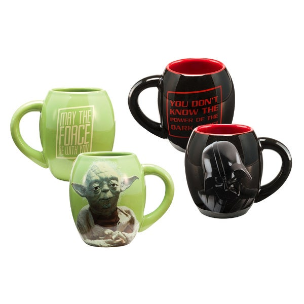 Star Wars Vader and Yoda 18-ounce Oval Mug Collection