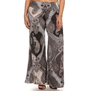 Women's Plus Paisley Print Pants