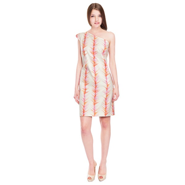Emanuel Ungaro Innovative Stretch Cotton Cocktail Day Dress (Size 10)