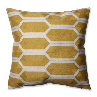 Pillow Perfect Graphic Detail Citron 16.5-inch Throw Pillow