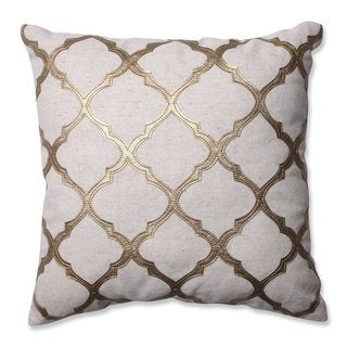 Pillow Perfect Glimmer Gold 16.5-inch Throw Pillow