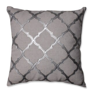 Pillow Perfect Glimmer Silver 16.5-inch Throw Pillow