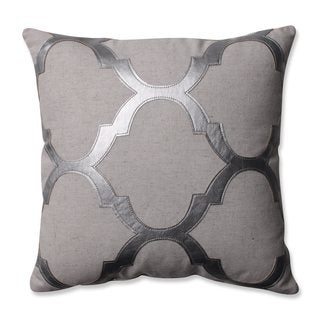 Pillow Perfect Glitz Silver 16.5-inch Throw Pillow
