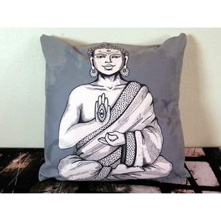 ArtHouse Innovations Buddha in Meditation Suede Throw Pillow