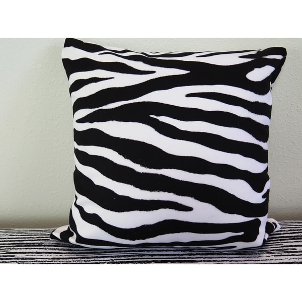 ArtHouse Innovations Zebra Skin Pattern Suede Throw Pillow