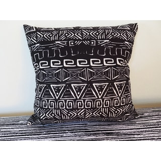 ArtHouse Innovations Retro Aztec Pattern Suede Throw Pillow