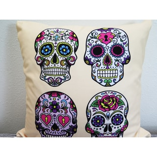 ArtHouse Innovations Day of the Dead Suede Throw Pillow