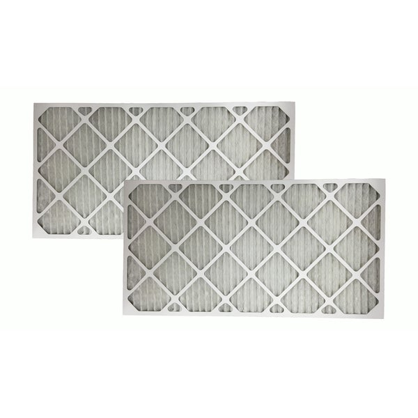 2 MERV 11 Allergen Air Furnace Filters 16x30x1 17565351