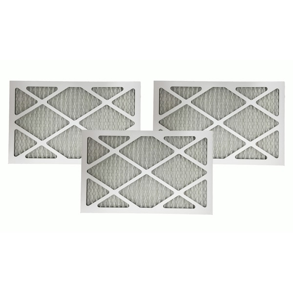 3 MERV 11 Allergen Air Furnace Filters 16x25x1 17565352