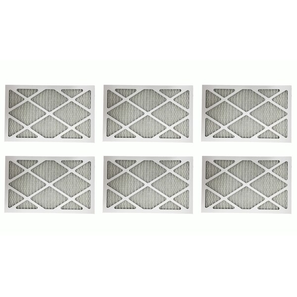 6 MERV 11 Allergen Air Furnace Filters 12x24x1 17565354