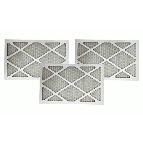 3 MERV 11 Allergen Air Furnace Filters 12x24x1 17565357