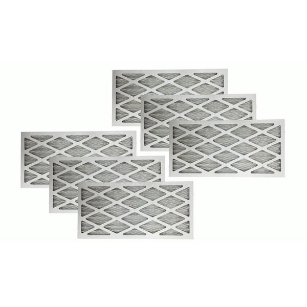 6 MERV 11 Allergen Air Furnace Filters 16x25x1 17565359