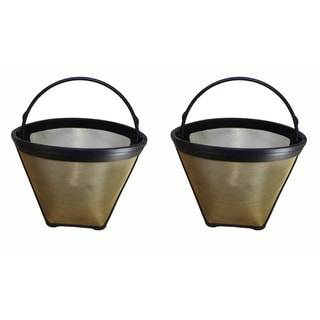 2 Cuisinart #4 Cone Gold Tone Washable Coffee Filters, Part # GTF