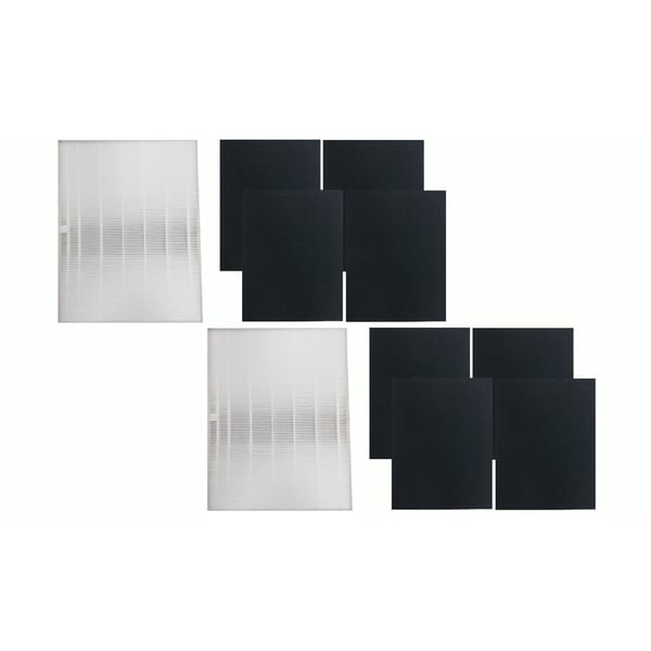2 Winix-Compatible 115115 Replacement Filters and 8 Carbon Filters, Fits PlasmaWave Series