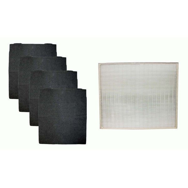 Crucial Air HEPA Air Purifier Filter and 4 Odor Neutralizing Carbon Pre Filters Fits Whirlpool, Part # 8171434K and 1183054 17565525