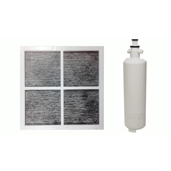 Replacement Refrigerator Water Purifier Filter & 1 LG LT120F Air Purifying Fridge Filter, Fits LG LT700P 17565547
