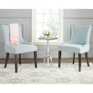 Safavieh En Vogue Dining Lester Sky Blue Polyester Blend Side Chairs (Set of 2)