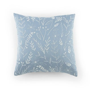 Kathy Davis Tranquility Embroidered Leaf Decorative Pillow