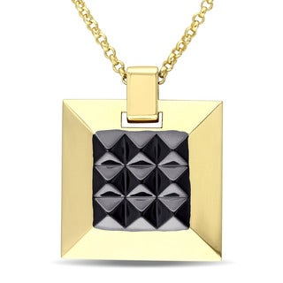 Versace 19.69 Abbigliamento Sportivo SRL SRL Men's Geometric Necklace in 18k Yellow Gold Plated Sterling