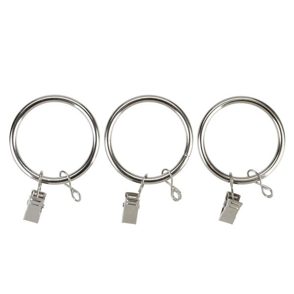 "Exclusive Fabrics Metal Curtain Rings For 1 1/2"" Diameter Metal Curtain Rods"
