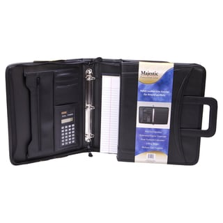 Black Zippered Portfolio with Retractable Handles
