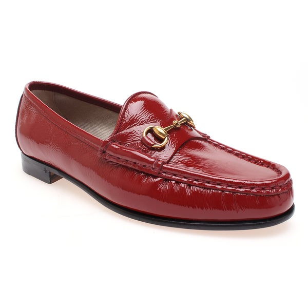 Gucci Women's Red 1953 Classic Horsebit Patent Leather Loafer