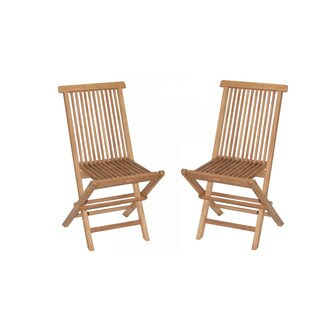 Vineyard Teak Folding Chairs (Set of 2)