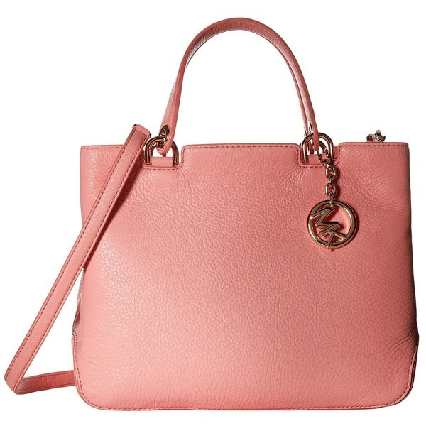 Michael Kors Annabelle Pale Pink Medium Top Zip Tote Handbag