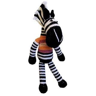 Hand-knitted 12-inch Zebra Toy (Zimbabwe)