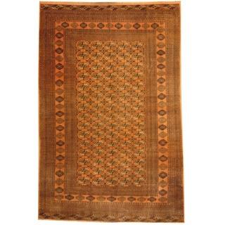 Herat Oriental Afghan Hand-knotted Tribal Turkoman Wool Rug (6'5 x 9'9)