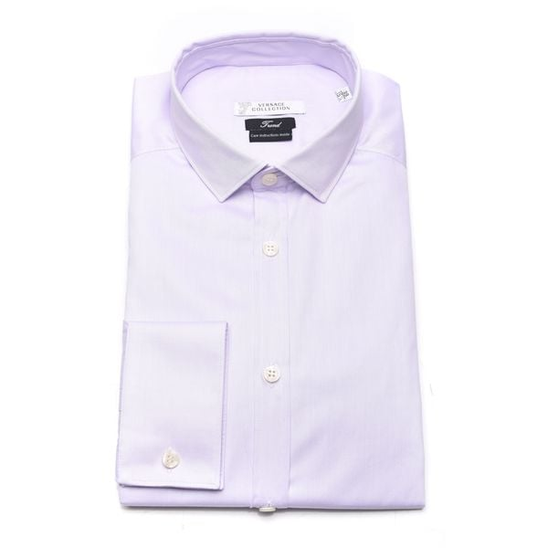 Versace Collection Men's Purple Trend Cotton Dress Shirt