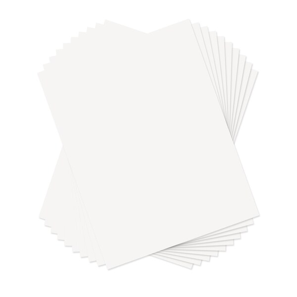 Sizzix White 8.5 x 11 Paper Leather Sheets (10 Pack)