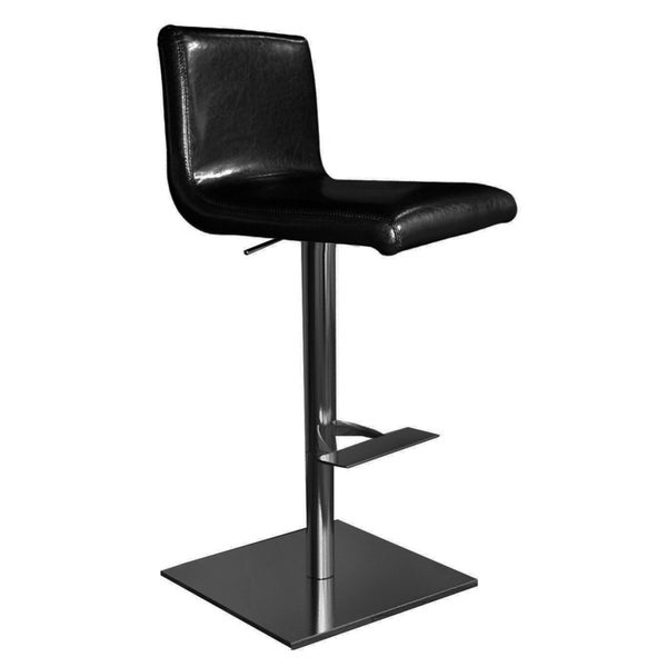Georgio Black Chrome Bar Stool