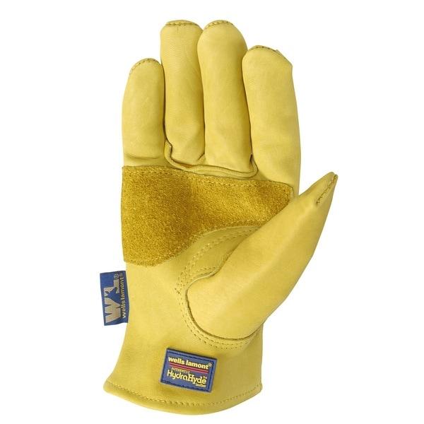 Wells Lamont HydraHyde Mens Saddletan Grain Cowhide Glove