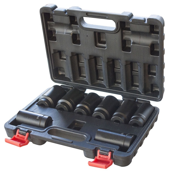 Black Bull 1/2 in. Drive 12 Point Spindle Deep Impact Socket Set - 8 Pc.