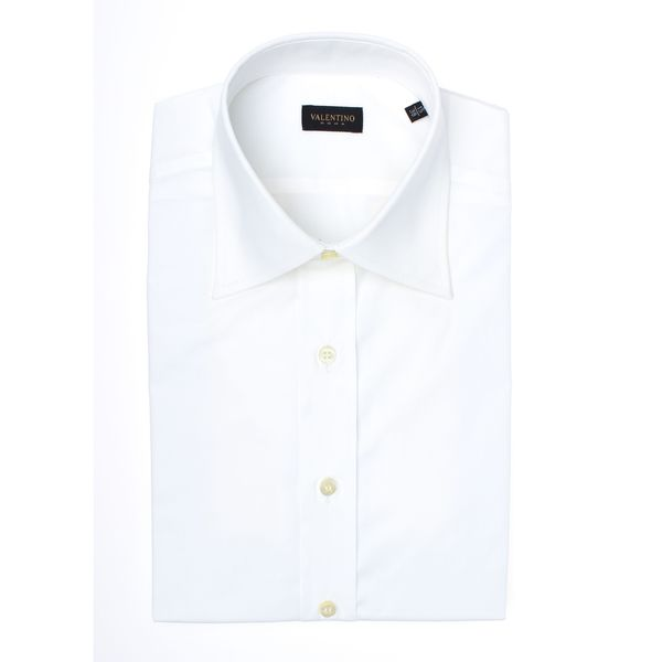 Valentino Men's Spread Collar Stretch Cotton Dress Shirt