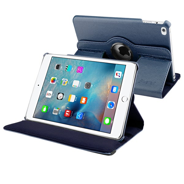 Insten Swivel Leather Case Cover with Stand for Apple iPad Mini 4