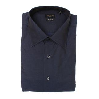 Valentino Men's Interfit Blue Cotton Dress Shirt