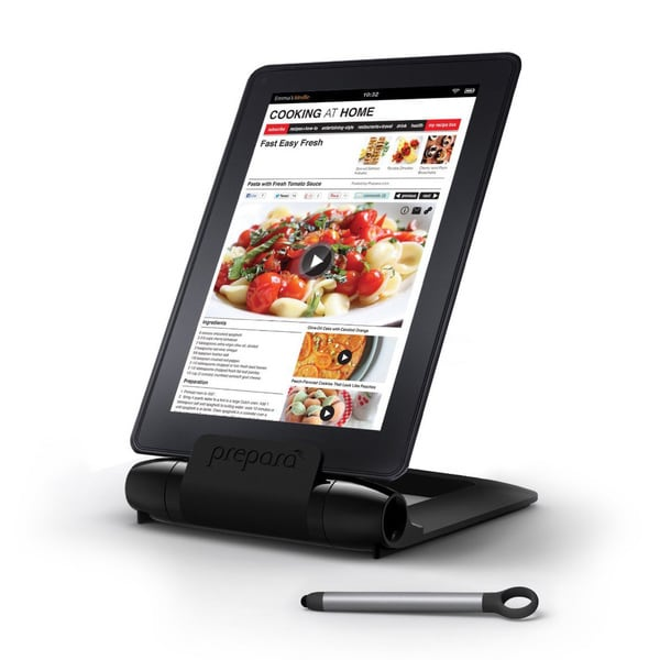 Prepara iPrep Black Tablet Stand with Stylus