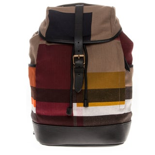 Burberry Colour Block and Canvas Check Backpack
