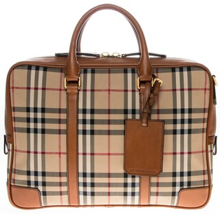 Burberry Horseferry Check Newburg Briefcase