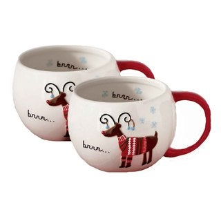 Tag Sweater Party Reindeer Mug (Set of 2)