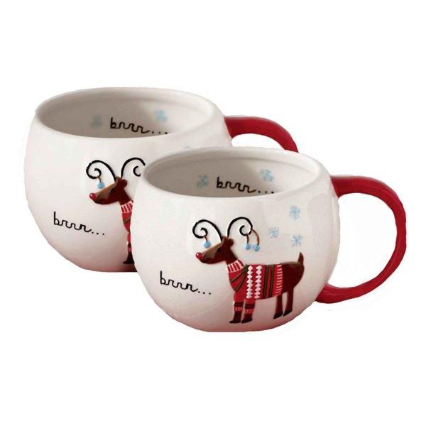 Tag Sweater Party Reindeer Mug (Set of 2)