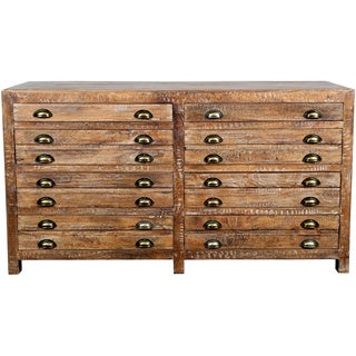 Wanderloot Draftsman Antiqued Mango Wood 8-drawer Dresser (India)