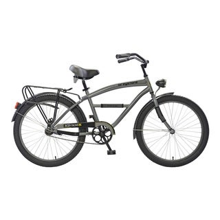 Body Glove Greystone Cruiser Bike, 24 inch wheels, oversized frame, Boy's Bike, Gunmetal Gray